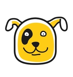 Cartoon animal head icon Dog face avatar vector image
