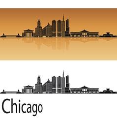 Chicago skyline in orange vector image