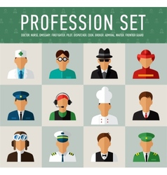 Different people professions characters set vector image vector image