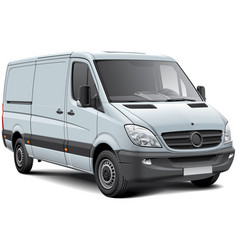 european light goods vehicle vector image