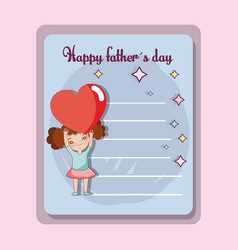 father day card to celebrate special day vector image vector image