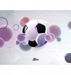 football with the abstract vector image vector image
