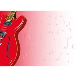 Red guitar vector