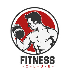 sport fitness club human fitness background vector image vector image