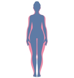 Before and after losing weight woman vector image