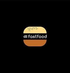 fast food burger logotype vector image