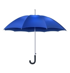 Realistic blue umbrella vector