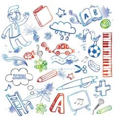 set of doodles vector image vector image