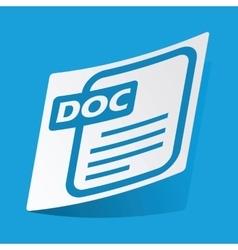 DOC file sticker vector image