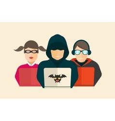 Hacker fraud and coder vector image
