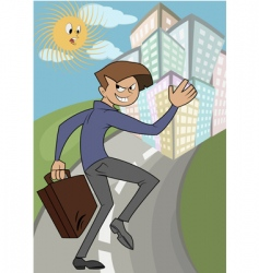 wicked businessman running vector image