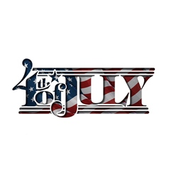 4th july cut out us flag vector