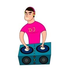 A male disc jockey vector