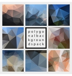 Abstract polygonal design backgrounds pack vector
