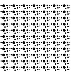 abstract seamless pattern black dots vector image
