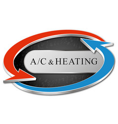 Air conditioning and heating symbol vector