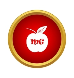 Apple with formula icon simple style vector