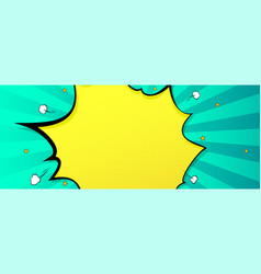 Background in cartoon comics book style exploding vector