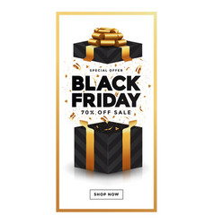 black friday sale banner 4 vector image