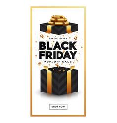 Black friday sale banner 4 vector