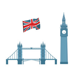 british symbols icon set vector image