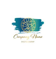 Brush logo design template for corporate vector