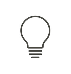 bulb light icon line idea symbol vector image