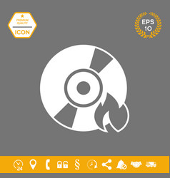 Burn cd or dvd icon graphic elements for your vector