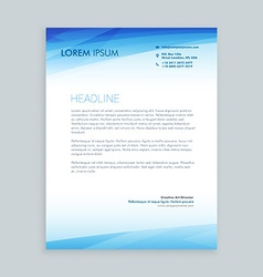 Business letterhead design vector