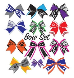 Cheerleader bow set vector