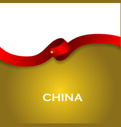 China sport style flag ribbon classic style vector