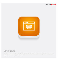 clapper board icon orange abstract web button vector image
