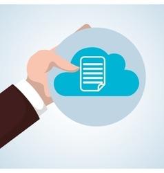 Cloud computing design Trip icon Flat vector image