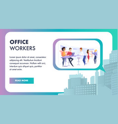 creative team working on business project banner vector image