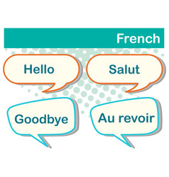 Different expressions in french language vector