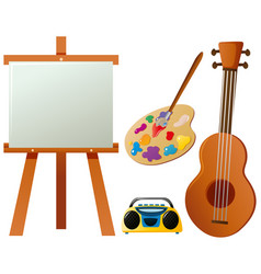 Different items for hobby vector