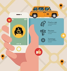 Disabled taxi app vector