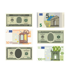 Fake dollars and euro vector