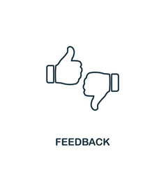 feedback outline icon thin line element from vector image