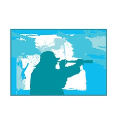 Fisherman silhouette vector image
