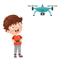 flat drone vector image