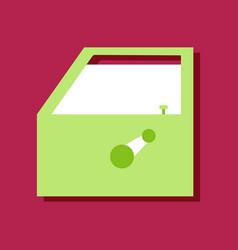 Flat icon design collection car door in sticker vector
