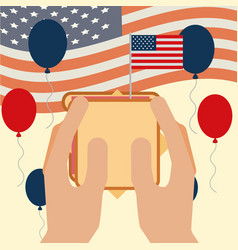 food american independence day vector image
