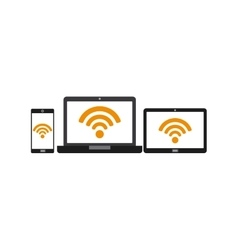 free wifi design vector image