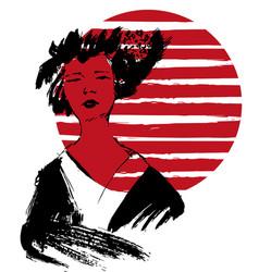 Geisha kimono vector