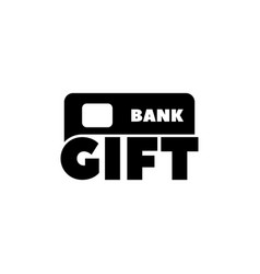 gift made with credit card flat icon vector image