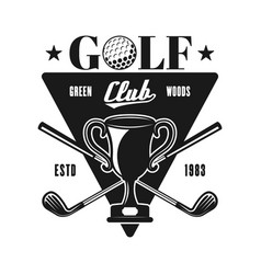 golf emblem for sport club in vintage style vector image