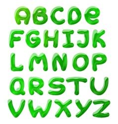 green blots alphabet vector image