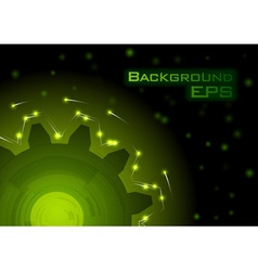 Green tech background - eps10 vector