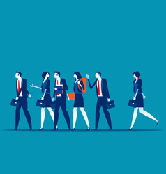 group business people go to work concept business vector image